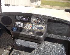 radio & speakers mounted in dash w/c.d. changer underneath
